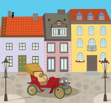Altstadt Straße  Standard-Bild