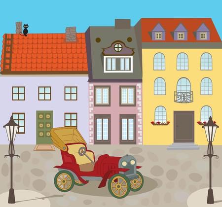 Vieille ville de rue Banque d'images