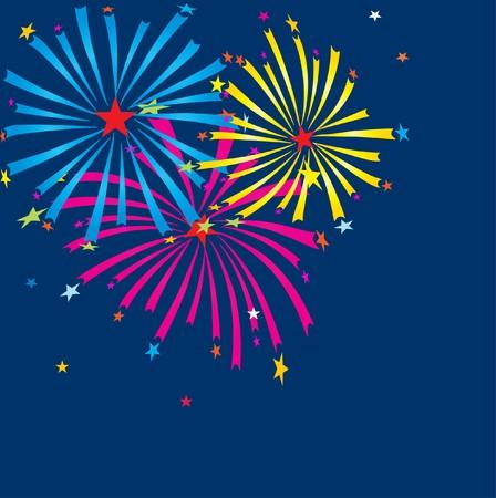Xmas fireworks on the dark sky photo