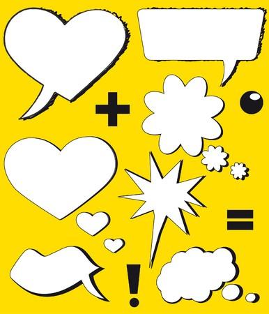 conversing: Love speech balloons