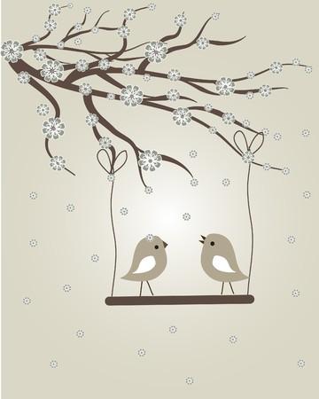 Spring birds photo