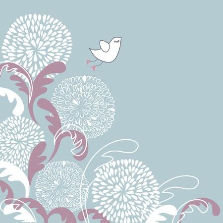かわいい鳥。ベクトル イラスト