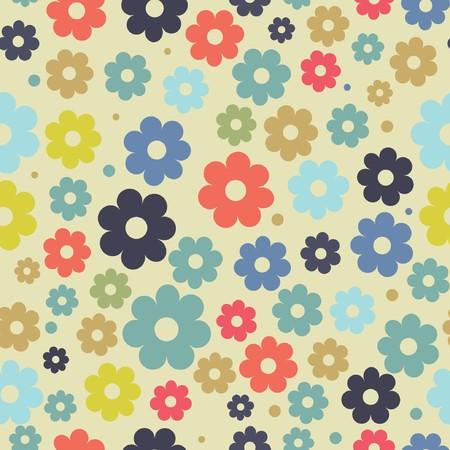object print: Vintage floral background
