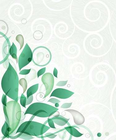 Abstract background with green flowers  Stock Photo - 8144074
