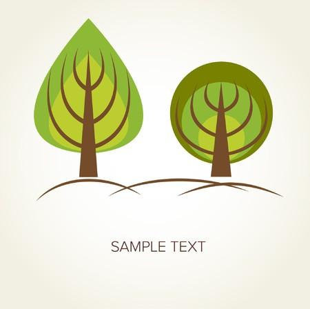 Trees. Vector background  photo