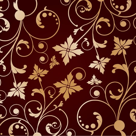 Vintage background with abstract gold flower Stock Photo - 8195381