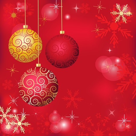 Abstract colorful red christmas background Stock Photo - 8195370