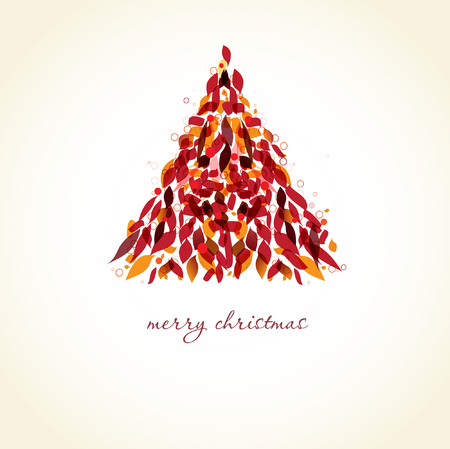 Abstract xmas tree.  christmas card Stock Vector - 8268289