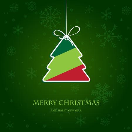 ビンテージ クリスマス カード  イラスト・ベクター素材