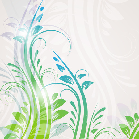 Abstract blue floral background  Vector