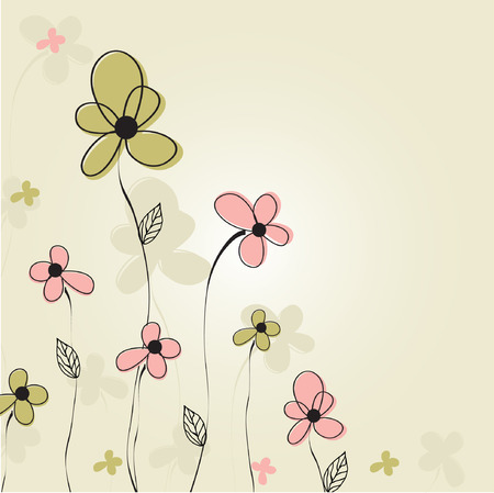 organic background: Floral card