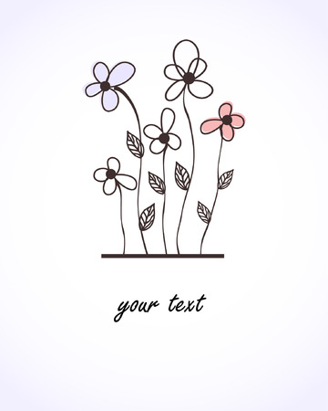抽象的な花カード