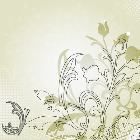 Abstract floral background.Vector card Vector
