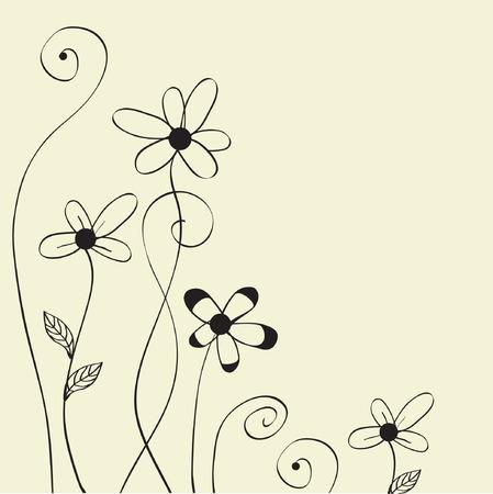 love wallpaper: Flores abstractas. Dise�o de tarjeta de felicitaci�n