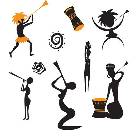 drums: Abstracta nativos africanos