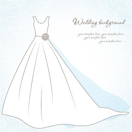 結婚式のドレスと背景