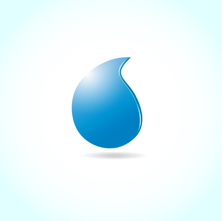 Ecological background with  water drop  Vector
