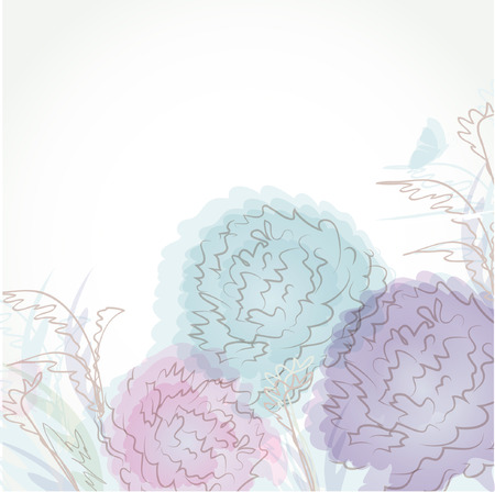 Pastel floral background Stock Vector - 8727652