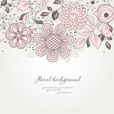Pastel floral background  Illustration