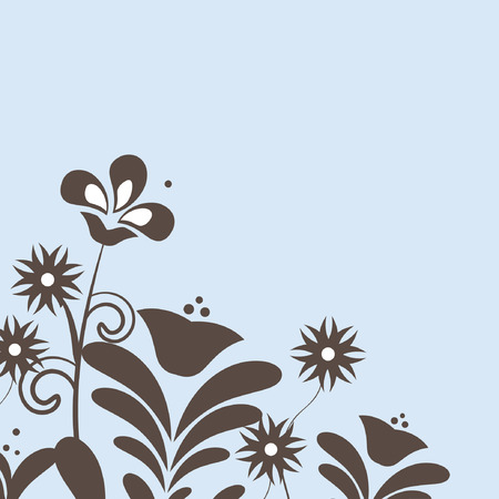 floral background. Vector card in retro style Vector