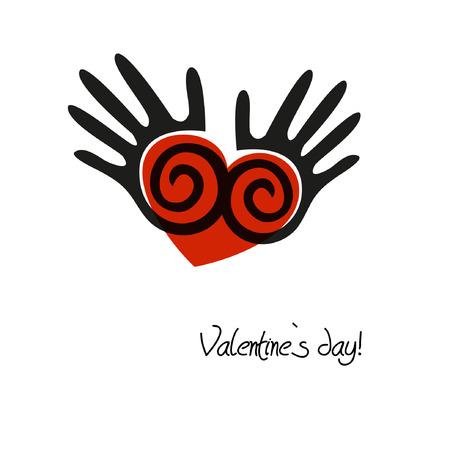 Beautiful vintage valentine`s heart