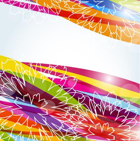Tropical floral background  Ilustração