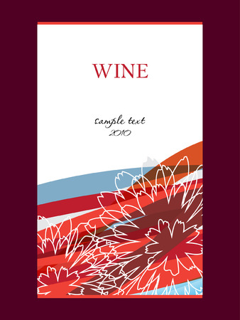 wine label design Stock Vector - 8877678