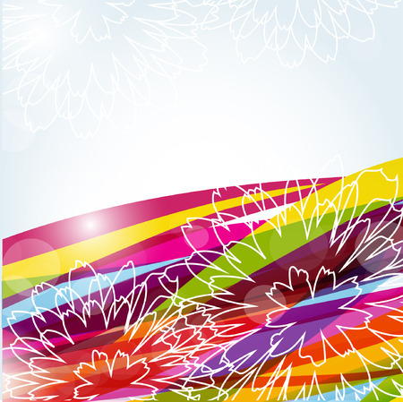 Abstract floral background Stock Vector - 8877694