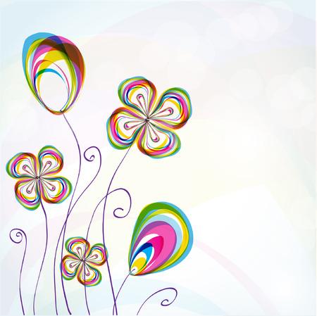 Fundo floral abstrato