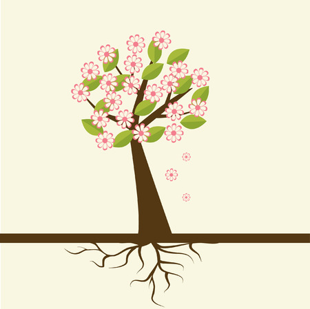 azahar: Flor de primavera de flor  Vectores