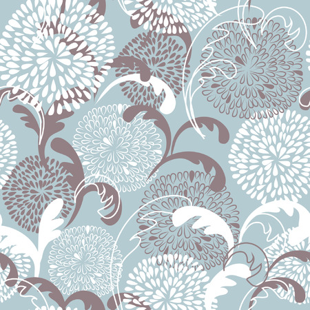 Floral seamless pattern in pastel colors  Vector