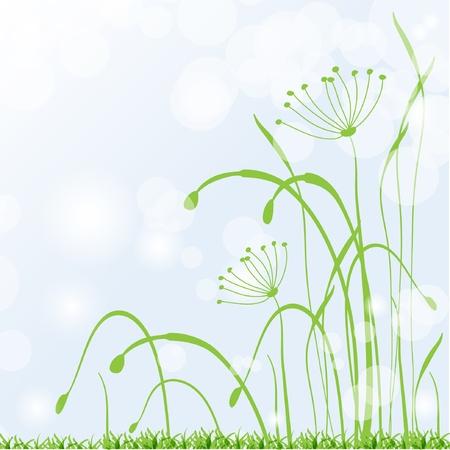 Spring grass, fresh background Stock Vector - 9165490