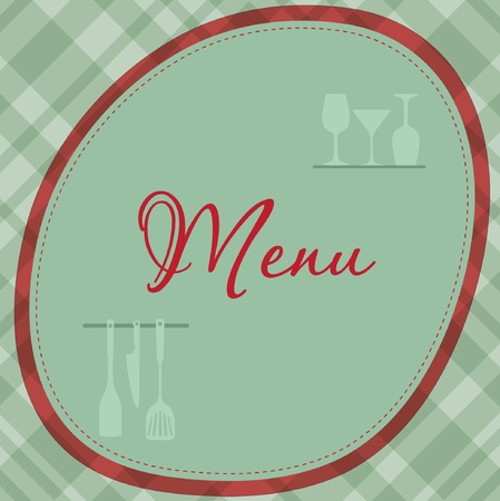 Restaurant menu background with wine bottles and glasses Vector