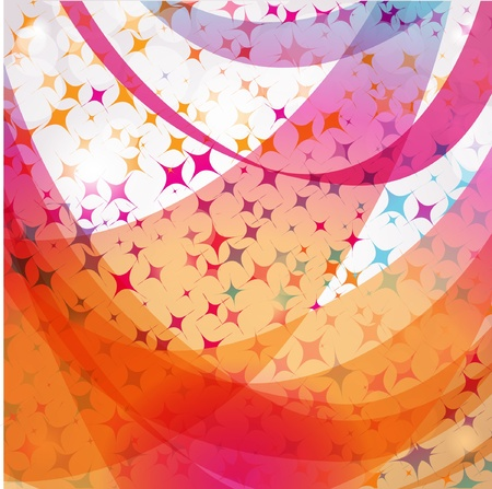 Abstract pastel background with stars and swirls Vector