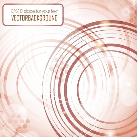 Fondo abstracto con círculos marrón
