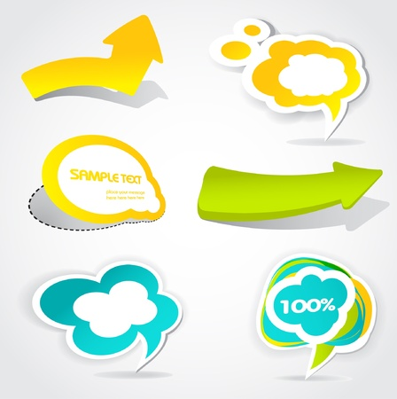 colorful vector speech bubbles and arrows for your text  Vector