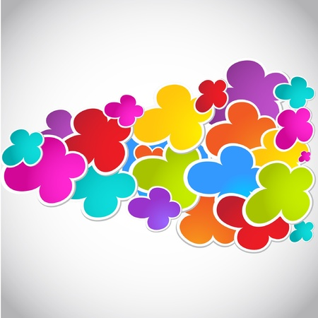 Abstract colorful wave from colored flowers  Vector