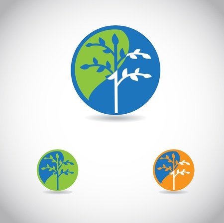 Tree Icon, good for ecological logotype  Vector