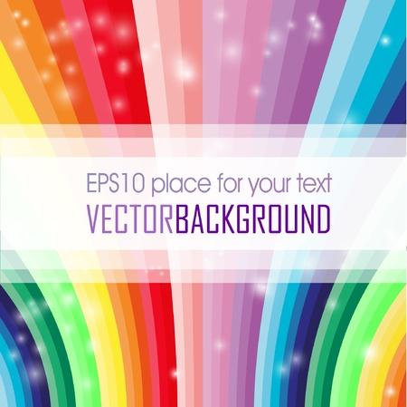 arcobaleno astratto: Estratto onda colorata Vettoriali