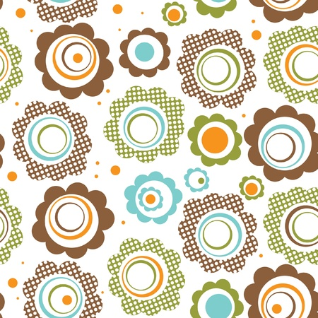 floral objects: Floral seamless pattern