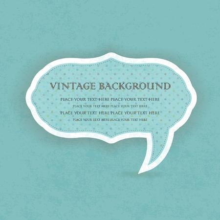 Vintage speech bubble frame design Vector