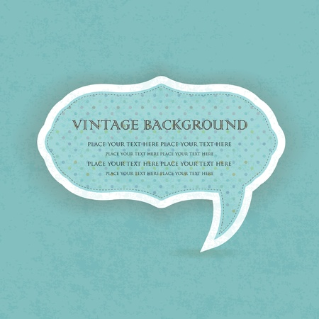 Vintage speech bubble frame design Vector