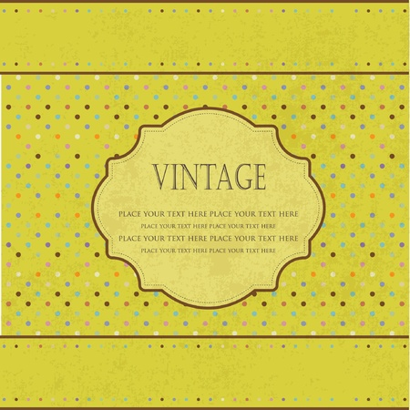 Vintage green floral frame with place for text Stock Vector - 10305744