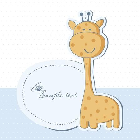 Baby-Dusche-Karte mit hübsch giraffe