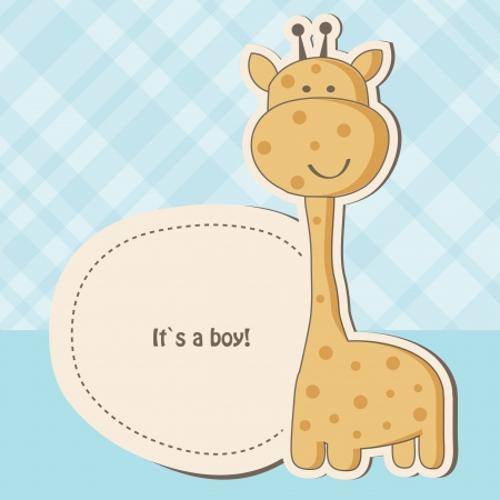 Baby shower card with cute giraffe  photo