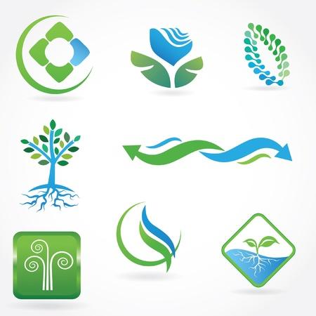 Set of vector ecological symbols  photo
