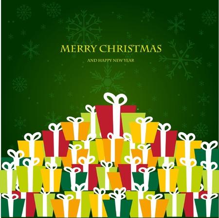 木製の背景にクリスマスの招待カード  イラスト・ベクター素材