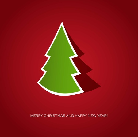 Christmas tree. Holiday card  Vector