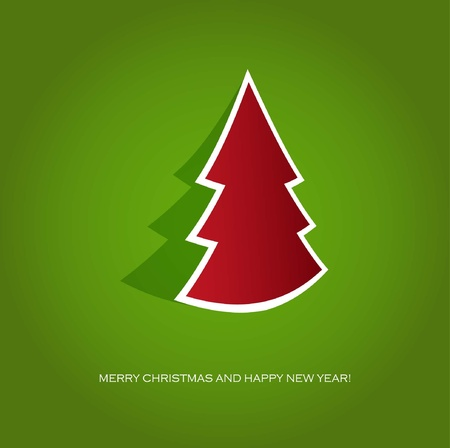Christmas tree. Holiday card  Illustration