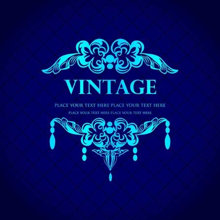 Vintage invitation design.  Vector